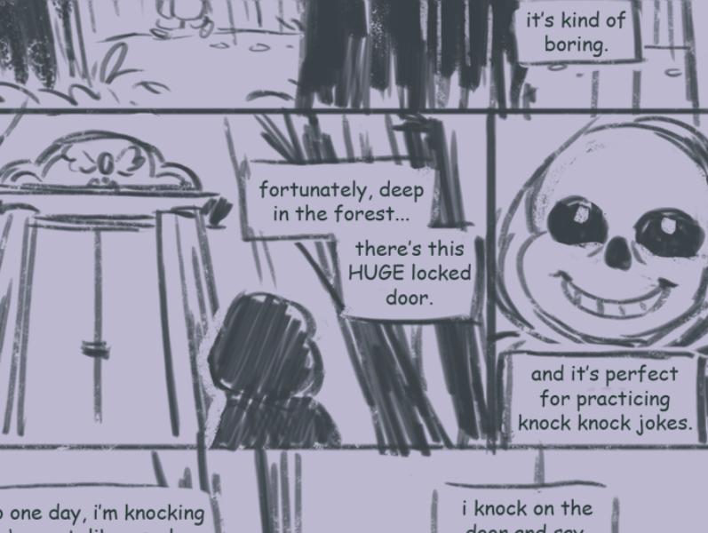 两幅Undertale的同人漫画,表现出了游戏原作独特的韵味