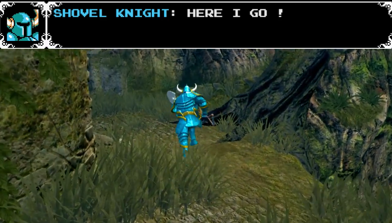 国外玩家制作《黑暗之魂》1代铲子骑士MOD,看上去还挺像样的